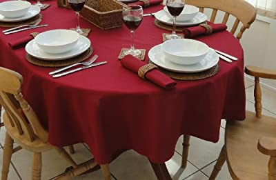 """WINE OVAL TABLECLOTH (8 SEATER)55x98"""""""