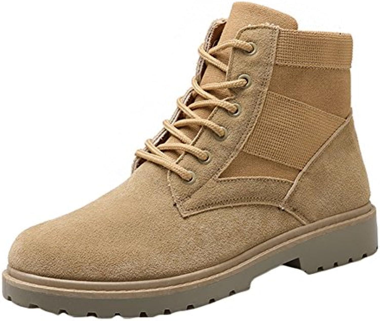 Hombres Botas Ejército Combate Patrulla Táctica Cadete Otoño Invierno Botas de Trabajo Zapatos Highdas