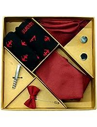 Blacksmith Polka Black Tie , Cufflink, Pocket Square , Socks , Lapel Pin , Tie Clip Set for Men