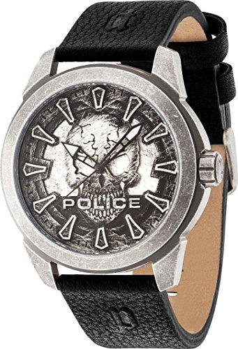 POLICE Mystery Herrenuhr schwarz/silber PL14637JSQS.57A