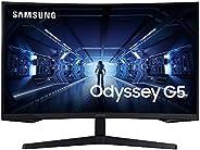 شاشة ألعاب SAMSUNG Odyssey G5 Series 32 انش WQHD (2560x1440)، 144 هرتز، منحنى، 1 ميجابيكسل، HDMI ، منفذ العرض،