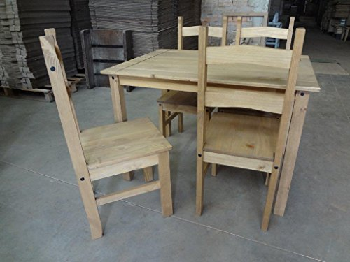 Mercers Furniture Corona Budget Dining Table and 4 Chairs – Pine