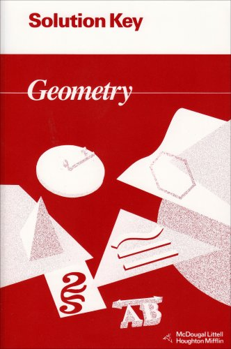 Solution Key Geometry (McDougal Littell Jurgensen Geometry)