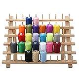Supporto pieghevole per filo in legno con 60 rocchetti