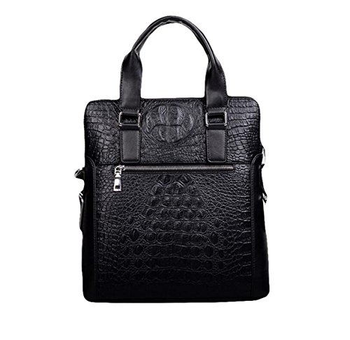 Borsa A Tracolla In Pelle In Pelle Compound Uomo Borsa Messenger Bag Casual Business Fashion Atmosfera Selvaggia Black