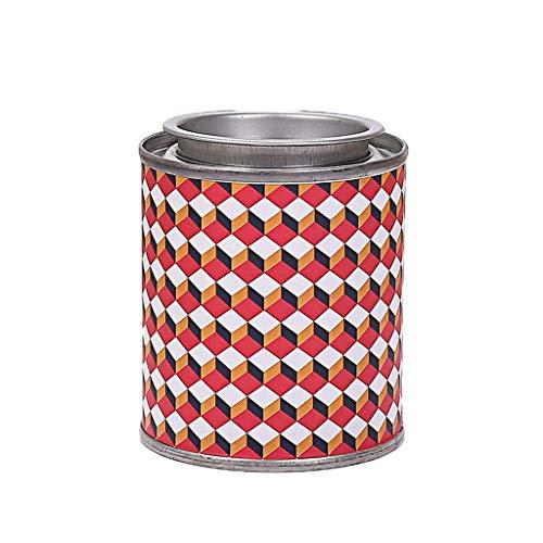 SONGSH Aromatherapie Kerze Geometrisches Muster Eisen Box 3 Sätze Von Aromatherapie Dekorative Ornamente 85g Geruch Kann 18H Mit Deckel Brennen Kerze (Color : BlackBerry and Laurel-3pcs) -