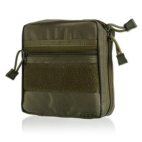 Zdmathe Molle Taktische Erste Hilfe Kit Tasche First Aid Pouch Set Tactical Medizinische Notfalltasche für Outdoor Zuhause Sport Reisen-Armee Grün -