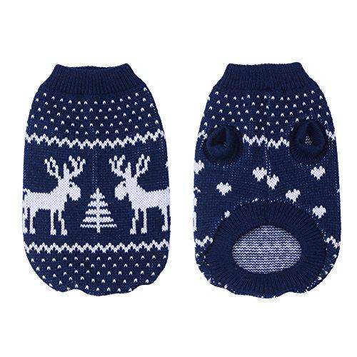 molie Haustier Hund Weihnachten Pullover Bekleidung (L, Blue)