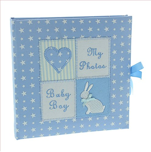 Baby Boy Gifts Uae : Baby boy blue fabric photo album gift buy