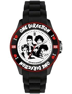 One Direction–oned04s–Armbanduhr–Quarz Analog–Zifferblatt schwarz Armband Silikon Schwarz–Small