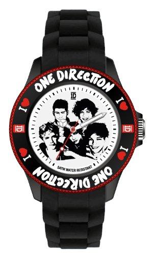 One Direction ONED04S - Reloj analógico de cuarzo unisex, correa de silicona color negro