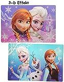 1 Stück _ 3-D Effekt Unterlage -  Disney die Eiskönigin / Frozen  - 42 cm * 29 cm - Tischunterlage / Platzdeckchen / Malunterlage / Knetunterlage / Eßunterl..