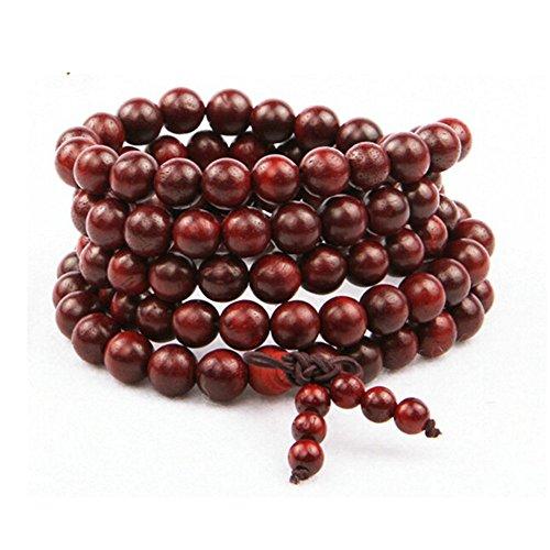 Buddhistische Gebetskette, Canvalite 108 Perlen Rosenholz Mala Gebetskette für Meditation Gebeten Mantren