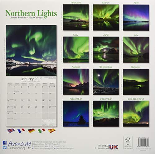 Northern Lights - Faszinierendes Nordlicht - Aurora Borealis 2019 (Wall-Kalender): Alle Infos bei Amazon