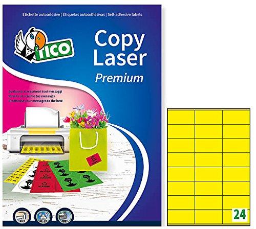 Tico lp4cg-7036etiquetas colores mate, 70FF, 70x 36, amarillo