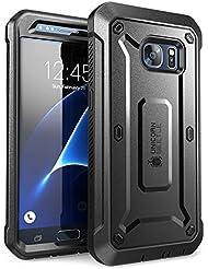 Carcasa para Samsung Galaxy S7 2016, Funda completa resistente SUPCASE con protector de pantalla integrado, serie Unicorn Beetle PRO (Negro)