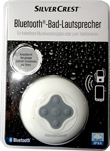 SILVERCREST® Bluetooth®-Bad-Lautsprecher (weiß)