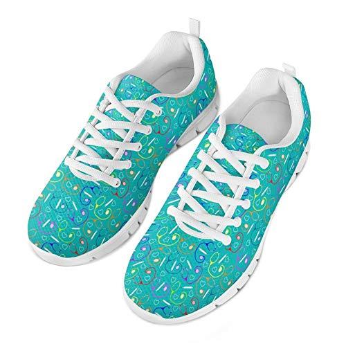 Coloranimal Lightweight Lace Up Laufen Walking Jogging-Schuhe Nurse Flats - Größe EU41