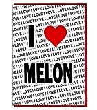 I Love melone biglietto d' auguri-Biglietto di compleanno-donna-da uomo-Daughter Son-Friend-marito moglie-Brother-Sister