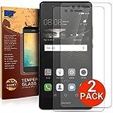 Huawei P9 Lite Verre Trempé [2 Pièces] Protection écran de meilleure qualité de Zooky®