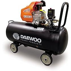 Daewoo DAC100D - Compresor Eléctrico 2 HP, 100 L, 240 V, Coaxial