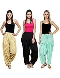 Mango People Products Combo Sky, Black & Sky Blue Of 3 Colours Womens & Girls Solid Cotton Mix Best Indian Ethnic...