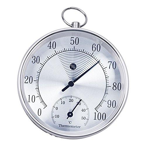 Galleria fotografica GuDoQi 10cm Termo Igrometro Termico Dentro Fuori Termometro D'Attaccatura Dell'Anello Contatore Dell'Igrometro