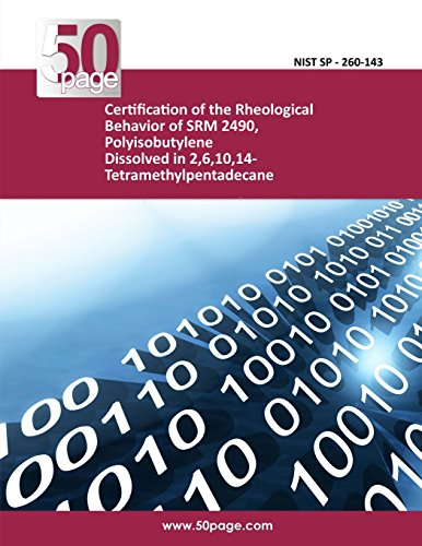 Certification of the Rheological Behavior of SRM 2490, Polyisobutylene Dissolved in 2,6,10,14-Tetramethylpentadecane
