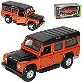 Bburago Land Rover Defender 110 Rot 1/32 Modell Auto mit individiuellem Wunschkennzeichen