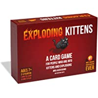 Exploding Kittens EKG-ORG1-1 Kaiwo-D06 A Russian Roulette, Easy Family-Friendly Party Card Games for Adults, Teens…