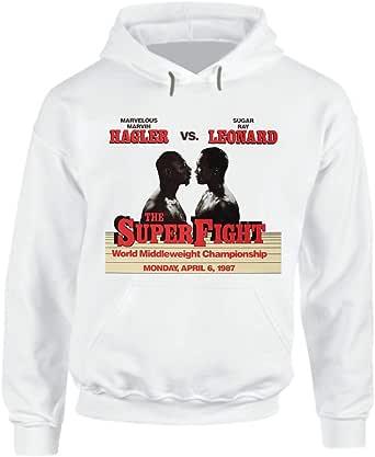 Marvin Hagler Vs Sugar Ray Leonard Retro 80s Boxing Fight Hoodie.