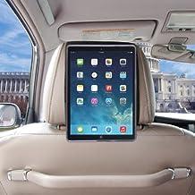 TFY Soporte de iPad Air 2 para el Reposacabezas del Coche,Reposacabezas del Coche Rápido Enganche y Suelte Edición (Negro)