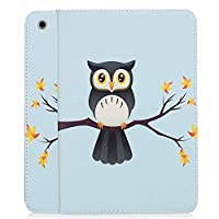 iPad Mini Case, iPad Mini 2 / Mini 3 Case, A-BEAUTY Painting Pattern Premium PU Leather Flip Wallet Slim Book Case for Apple iPad Mini 1/2/3, owl