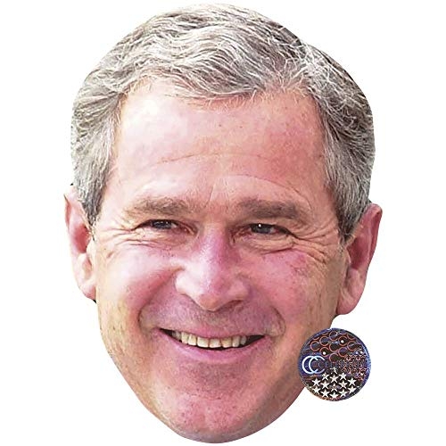Celebrity Cutouts George W. Bush (Smile) Big Head (Bush-maske)