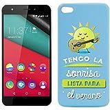 Funda de Silicona Diseño Premium para Wiko Pulp Emoticonos Sol