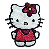 Aufnäher/Bügelbild - Hello Kitty Comic Kinder - rosa - 6x5,5cm - by catch-the-patch® Patch Aufbügler Applikationen zum aufbügeln Applikation Patches Flicken