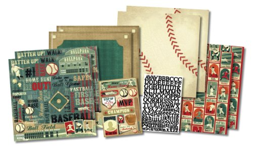 KAREN FOSTER Design Scrapbook Kit, Rookie of The Year, 12 x 12
