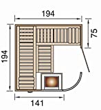 Sauna des Jahres weka Design-Sauna SARA 1 OS - 2