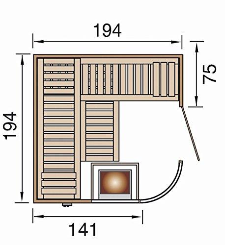 Sauna des Jahres weka Design-Sauna SARA 1 OS