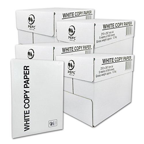 10000 Blatt Druck- und Kopierpapier DIN A4 75g/m² COPY PAPER Kopierpapier, Druckerpapier, Universalpapier, Papier 20 x 500 Blatt weiß Laserpapier & Fax versando -