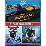 3-Movies Collection: Spider-Man: Homecoming + Spider-Man: Into the Spider-Verse + Venom