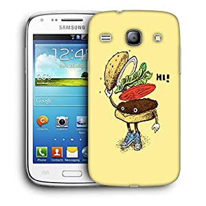 Snoogg Hi Sandwich Designer Protective Back Case Cover For Samsung Galaxy Core