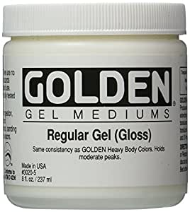 Pro-Art Mediums Golden Regular Gloss Gel Medium-8 oz