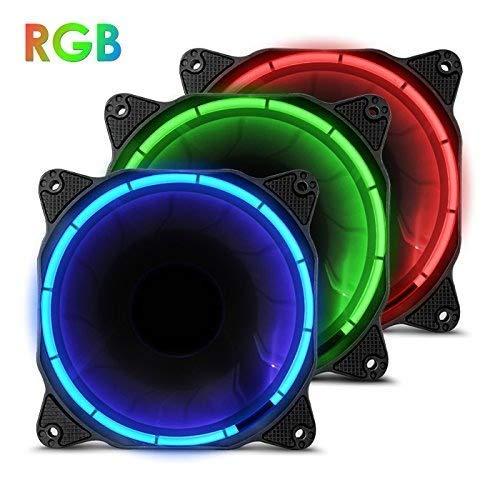 anidees AI Halo RGB Triplo insieme ventilatore 120 mm con un elevato flusso d'aria e l'illuminazione a LED per Ventole per CPU,raffreddamento ad- RGB