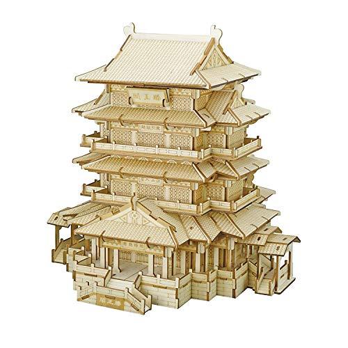 MRR Holz Puzzles,3D Baumodell Spielzeug für Teens Or Erwachsene, Toy Brain Teaser Chinesische Architektur (Tengwang Pavillon)