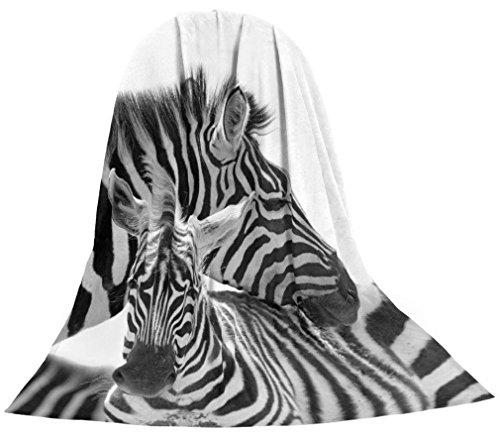 Microfaser Kuscheldecke Tagesdecke Wohndecke Decke Tiermotiv Motivdrucke Fotodruck 1,5m x 2m (Zebra)