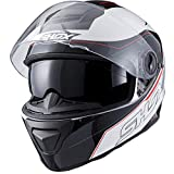 Shox Assault Tracer Motorcycle Helmet M Black/White/Red