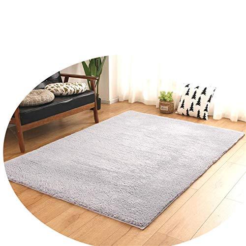 Floor mat Dicker Rechteckiger Teppich des Modernen Unbedeutenden Wohnzimmerhauses,Staubiges Blau,140 * 200 -