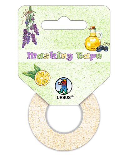 URSUS 58670099Masking Tape, Set in Stile mediterraneo, 3Ruote, ca. 15mm x 10m