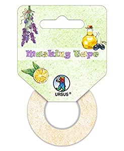Ursus 58670099Masking Tape, Set Mediterran, 3Ruedas, Aprox. 15mm x 10m
